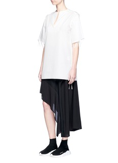 Acne Studios 'Bluma' binding strip cotton poplin tunic