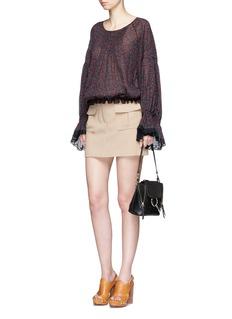 ChloéCherry print crépon blouse