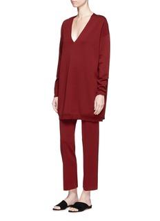 The Row'Destiny' virgin wool blend jersey pants