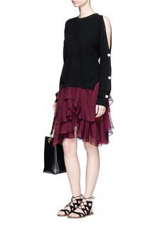 Chloé Pointy' tiered ruffle silk georgette skirt