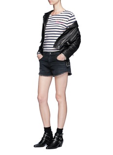 Marc Jacobs Embellished Breton stripe top