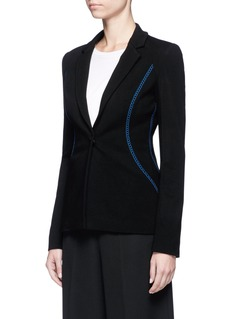Emilio PucciContrast topstitch stretch suiting jacket