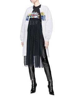 FURUGI-NI-LACE Graphic print sweatshirt jersey coat
