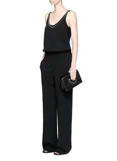 Stella McCartney'Falabella' chain crepe sleeveless jumpsuit
