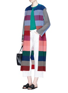 Ports 1961Stripe knit long coat