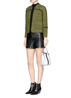 Proenza Schouler 'Lady' fringed contrast tweed jacket