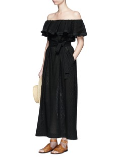 Lisa Marie Fernandez 'Mira' ruffled off-shoulder belted eyelet dress