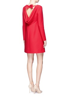 ValentinoBow drape back virgin wool-silk crepe dress