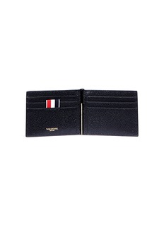 Thom Browne Pebble grain leather clip wallet