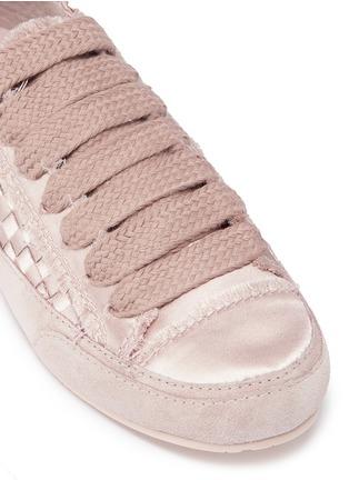 Detail View - Click To Enlarge - Pedro García - 'Padme' basketweave satin sneakers