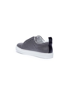 Pierre Hardy 'Mini Slider' gingham print leather kids skate slip-ons
