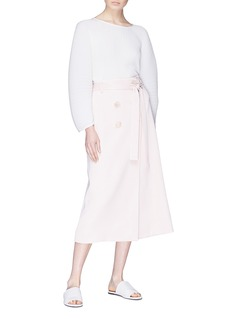 Christopher Esber Belted button wrap skirt