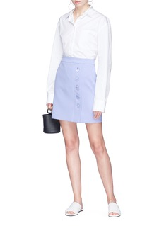Christopher Esber Button mini skirt