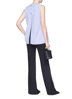 Christopher Esber Split button back sleeveless top