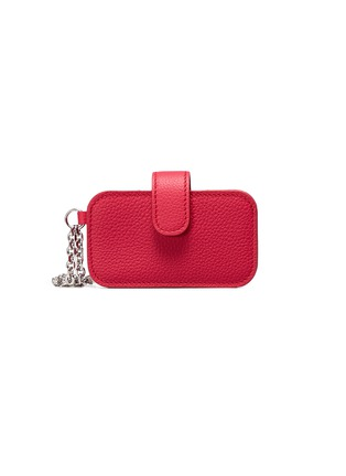 Main View - Click To Enlarge - Alexander McQueen - Skull chain leather card holder