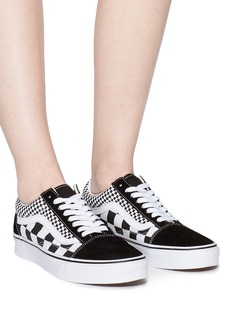 Vans 'Old Skool' checkerboard canvas unisex flatform sneakers