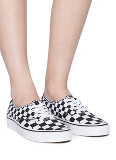 Vans 'Authentic' checkerboard canvas unisex sneakers