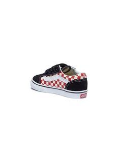 Vans 'Old Skool V' colourblock checkerboard toddler sneakers