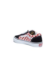 Vans 'Old Skool' colourblock checkerboard kids sneakers