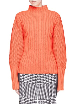 Main View - Click To Enlarge - VICTORIA, VICTORIA BECKHAM - Lambswool mix knit turtleneck sweater