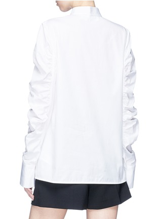 Back View - Click To Enlarge - VICTORIA, VICTORIA BECKHAM - Ruched sleeve shirt