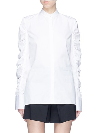 Main View - Click To Enlarge - VICTORIA, VICTORIA BECKHAM - Ruched sleeve shirt