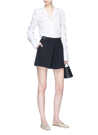 Figure View - Click To Enlarge - VICTORIA, VICTORIA BECKHAM - Ruched sleeve shirt