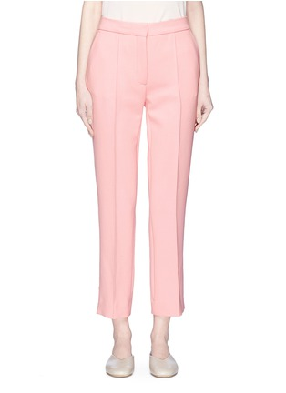 Main View - Click To Enlarge - VICTORIA, VICTORIA BECKHAM - Stripe outseam cropped pants