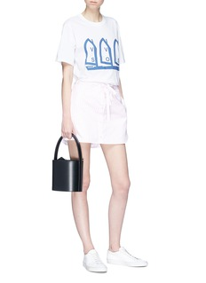 VICTORIA, VICTORIA BECKHAM 拼色条纹系带纯棉裙裤