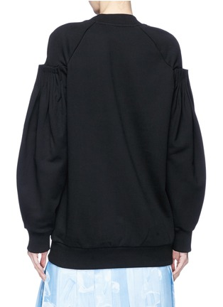 Back View - Click To Enlarge - VICTORIA, VICTORIA BECKHAM - Cartridge pleated sleeve sweatshirt