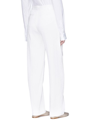Back View - Click To Enlarge - VICTORIA, VICTORIA BECKHAM - Pleated seersucker pants