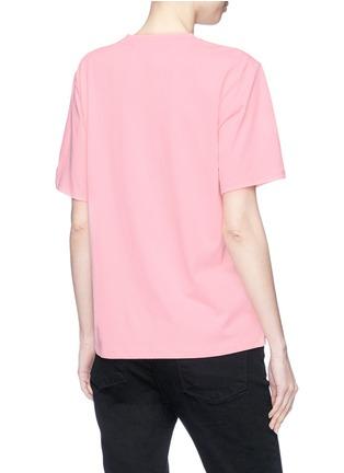 Back View - Click To Enlarge - VICTORIA, VICTORIA BECKHAM - Sequin flamingo appliqué T-shirt