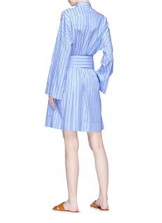 VICTORIA, VICTORIA BECKHAM 条纹系带府绸衬衫裙