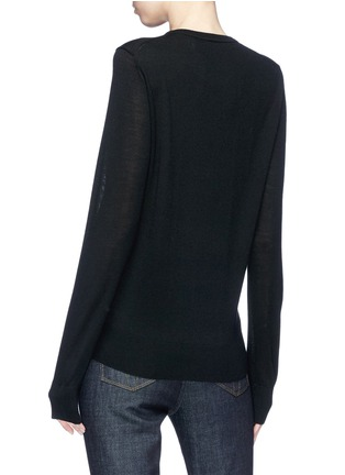 Back View - Click To Enlarge - VICTORIA, VICTORIA BECKHAM - Flamingo sequin wool sweater