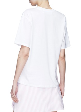 Back View - Click To Enlarge - VICTORIA, VICTORIA BECKHAM - Logo boat print T-shirt