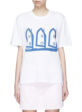 Main View - Click To Enlarge - VICTORIA, VICTORIA BECKHAM - Logo boat print T-shirt