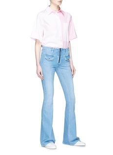 VICTORIA, VICTORIA BECKHAM Flap pocket zip front flared jeans
