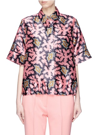 Main View - Click To Enlarge - VICTORIA, VICTORIA BECKHAM - Graphic print sateen T-shirt