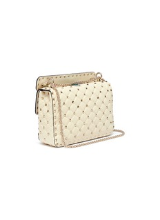 Valentino 'Rockstud Spike' butterfly embellished medium quilted leather crossbody bag