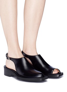 Aalto 'Zombie Brock' ankle strap cutout toe leather shoes