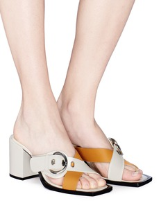 Aalto Cross buckled strap leather mule sandals