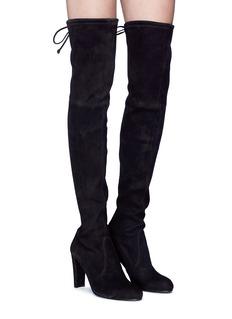 Stuart Weitzman 'Highland' stretch suede thigh high boots