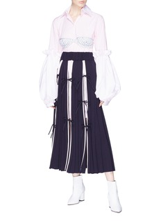 Akiko Aoki Detachable stripe corset bra