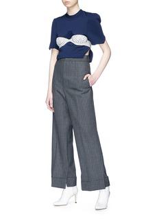 Akiko Aoki Side split cropped sweater