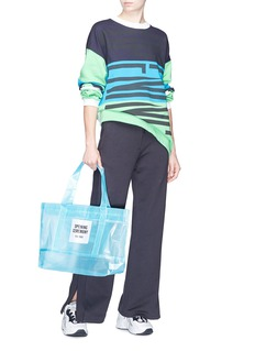 Opening Ceremony Logo patch medium PVC mesh tote
