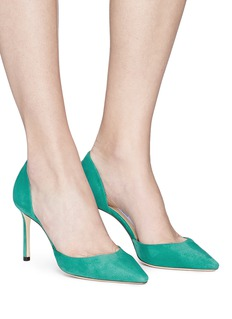 Jimmy Choo 'Esther 85' suede d'Orsay pumps