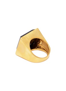 Kenneth Jay Lane Stone square ring