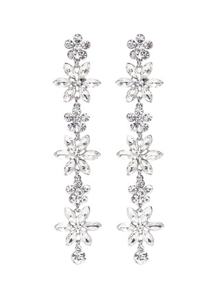 Main View - Click To Enlarge - Kenneth Jay Lane - Glass crystal floral drop earrings