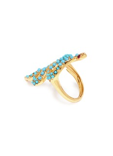 Kenneth Jay Lane Embellished snake ring