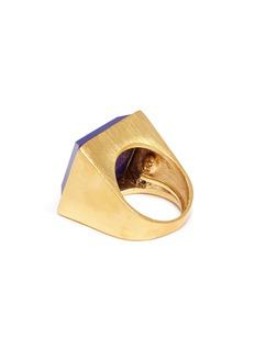 Kenneth Jay Lane Lapis square stone ring